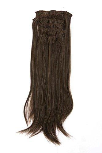 Postiches Femmes brun 7 pièces 43 cm