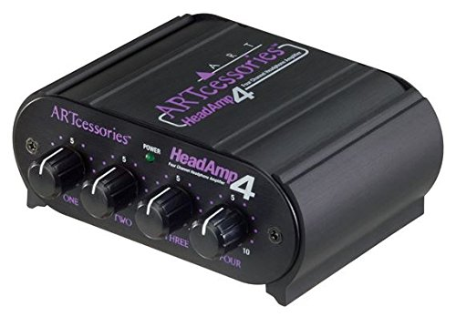 headroom headphone amps ART HeadAMP4 Eight Output Stereo Headphone Amplifier