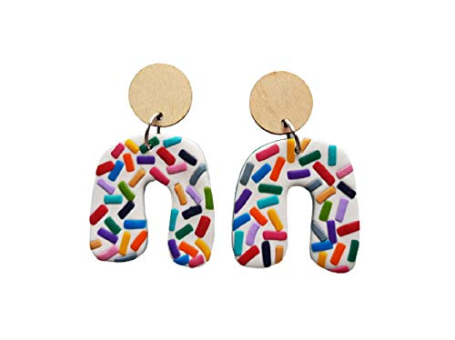 Polymer Discount is also underway Clay Multicolor Confetti Arch Dangle Earrings Drop Ranking TOP13 Small
