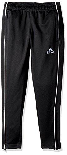 adidas unisex-child Core 18 Training Pants Black/White Large