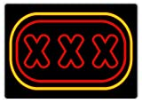 PotteLove XXX Sex Sign - Neon - Metal Wall Sign Plaque Art - Amsterdam Vegas