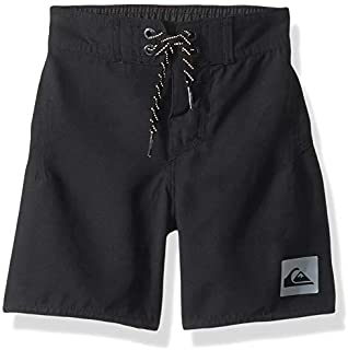 Quiksilver Little Highline Kaimana Boy's 14 Boardshort Swim Trunk Black 2 [並行輸入品]