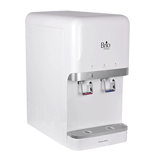 """Brio and Magic Mountain Water Products 6 Stage R/O 17"""" w/Tall Countertop Bottleless Water Dispenser Brio CLWCM3000U (6 Stage EZ Change R/O, White (Mini)"""