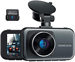 TOGUARD 4K Dual Dash Cam for Cars UHD 2160P+1080P Front and Rear Dash Camera, 3