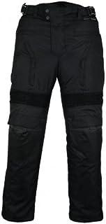 Bikers Gear Australia Men's Cougar Waterproof Textile Pants with Removable CE Armour Black