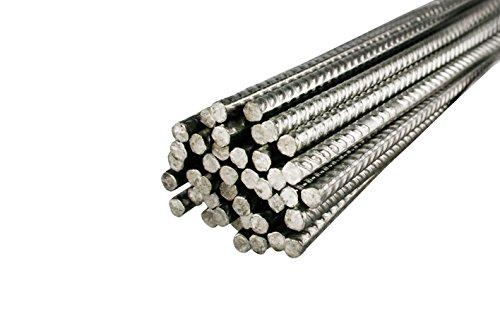 10 Stück Bewehrungsstahl 1 m Länge, 6 mm Durchmesser – Inoxripp® 4486, rostfrei, Edelstahl V4A - verschiedene Längen
