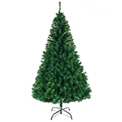 More tips - 1050 branches are elaborated with to show the vivid full-blown pine tree More realistic - The blades of Christmas tree are made from high quality PVC material, it shows more real and more nature Sturdy and durability - Metal tree base wit...