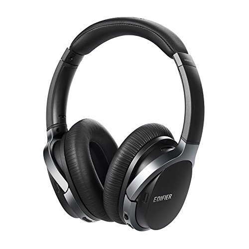 Edifier W860NB Cuffie Auricolari Over-Ear con Bluetooth aptx, Cancellazione Attiva del Rumore e Smart Touch - Nero