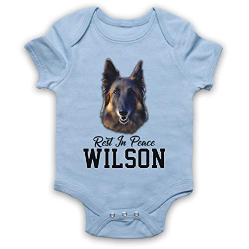 My Icon Art & Clothing Friday Night Rest in Peace Wilson RIP Bébé Barboteuse Bodys, Bleu Clair, 6-12 Mois