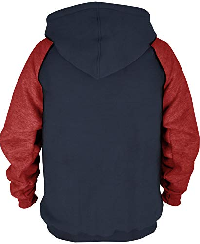 Mens Athletic Baseball Red Sox Pullover Hoodie