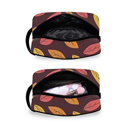 Reise-Kosmetiktasche für Damen oder Herren – Blätter, tropischer Druck, Handarbeit, Kosmetik, Make-Up-Tasche für Badezimmer Dusche
