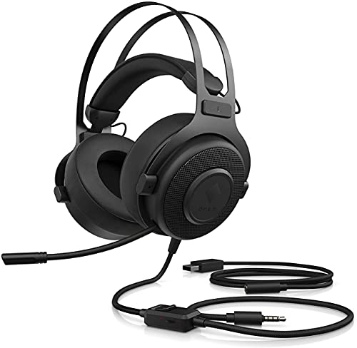 HP - Gaming OMEN Blast - Auriculares con Cable USB, Sonido Envolvente 7.1, Diadema suspendida, Almohadillas Acolchadas, micrófono retráctil, OMEN Command...