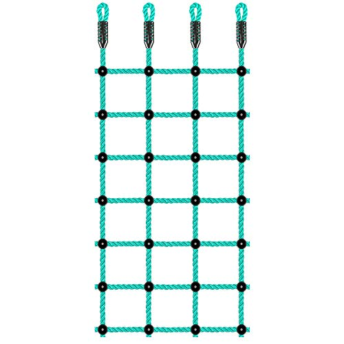 "BeneLabel Climbing Cargo Net, Indoor Climbing net, Outdoor Cargo Webbing Net, Military Climbing Cargo Net, 100% Nylon Material Rope Ladder, Corrosion Resistance, 30"" x 77"""