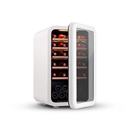 BUDBYU Réfrigérateur à vin Rouge et Blanc, Cave à vin de comptoir, réfrigération à compresseur pour comptoir, Calme pour Bar à Domicile ou Bureau