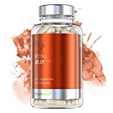 Royal Jelly Tablets - 750mg Servings Pure Royal Jelly Supplement Pills for Energy, Hair, Skin, Fertility and Life Health Boost, Multiple Vitamins & Minerals for Men & Women - 60 Vegetarian Capsules