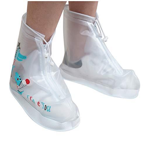 weichuang Bottes de pluie pour femme ou enfant - Non jetables - Protection épaisse et imperméable - Pour nettoyer les tapis - Couleur : blanc - Taille : XXL