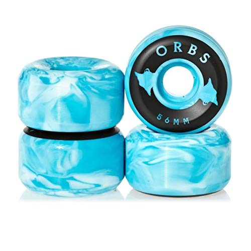 Welcome Orbs Specters Swirls - 56mm Skateboard Wheel 56mm Blue/White