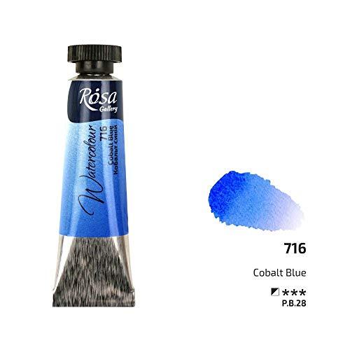 Pintura de acuarela profesional, tubos de 10 ml, ROSA Gallery, calidad de artista azul cobalto