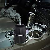 Mini humidificador pequeño para el coche, difusor de aceites esenciales de aromaterapia, USB, humidificador de aire frío para coche, planta de bebé, oficina, apagado automático, súper silencioso, color negro