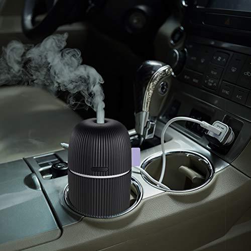 Mini humidificador pequeño para el coche, difusor de aceites esenciales de aromaterapia, USB, humidificador de aire frío para coche,...