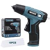 WESCO 3.6V Akku-Heißklebepistole mit 10 Stück 7 mm Klebestift, USB-Ladung, 60 Sekunden schnelles...