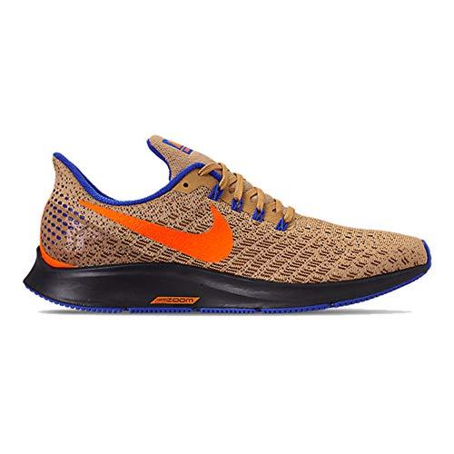 Nike Men's Air Zoom Pegasus 35 Running Shoe, Club Gold/Total Orange-racer Blue, 14 M US