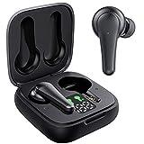 Écouteur Bluetooth Aoslen Écouteurs sans Fil 5.2 Oreillettes Bluetooth Intra Auriculaire HiFi Stéréo 30h d'Autonomie Intégré Double Micro Contrôle Tactile pour iOS Huawei Xiaomi Noir