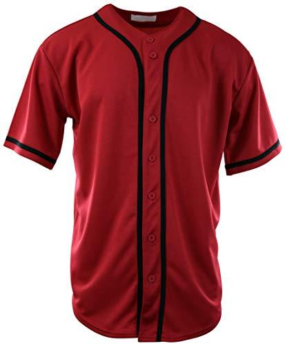 ChoiceApparel Mens Baseball Team Jerseys (X-Large, 077-Red)