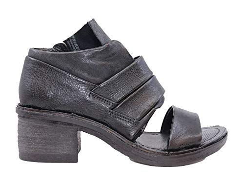 A.S. 98 690016, schwarz, hohe Sandale, für Damen, schwarzes Leder, Schwarz - Schwarz - Größe: 36 EU