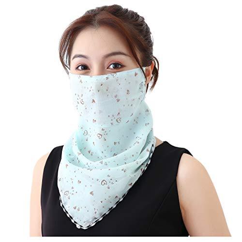 MOTOCO Kopftuch Bandana Mode Halstuch Stirnband Damen Schlauchtuch Neck Gaiter Gesichtsschutz Kopfbedeckung Halsmanschette Frauen Multifunktionstuch(L.J)