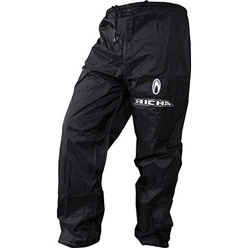 Richa Lluvia Impermeable Warrior Pantalones de Moto Pantalones Negros 10XL