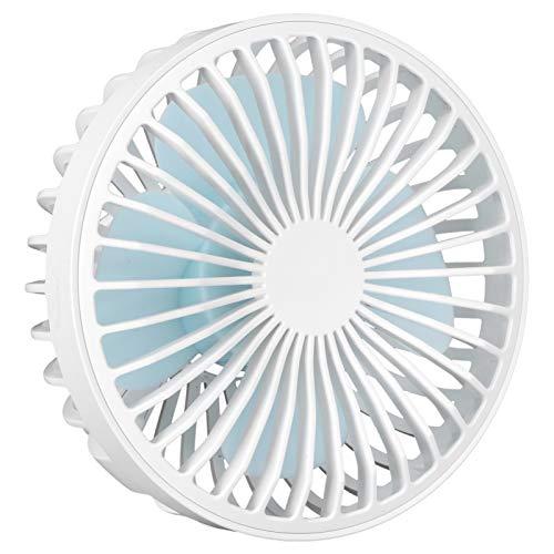 SALUTUYA Ventilador eléctrico portátil Antideslizante de bajo Consumo de instalación Sencilla, para Exterior, con 4 aspas, para Verano(White)
