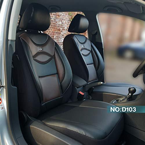 Maß Sitzbezüge kompatibel mit Ford Ranger Fahrer & Beifahrer ab BJ 2015 Farbnummer: D103