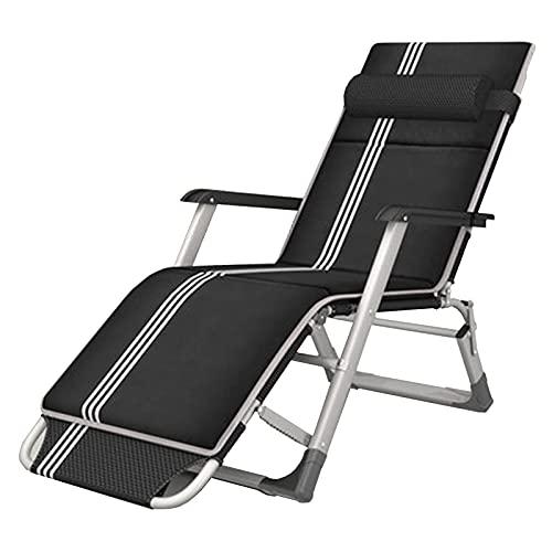 Sillones Pobling Sun Tounger con cojín de algodón, Silla de jardín al Aire Libre Ajustable, reclinadores de aleación de Aluminio para la Oficina de Oficina Interior Camping WTZ012
