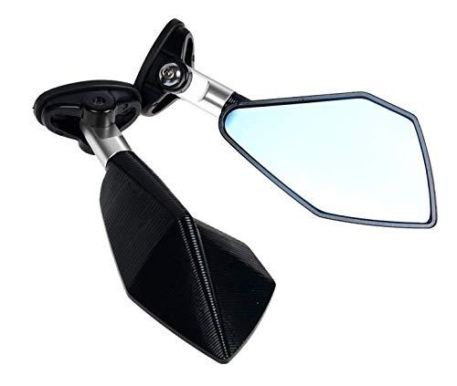 Wooya Accessoires De Moto Horizon De Voiture De Sport Miroir De Moto Miroir Miroir CNC Anti-Reflet Oculaire-Argent