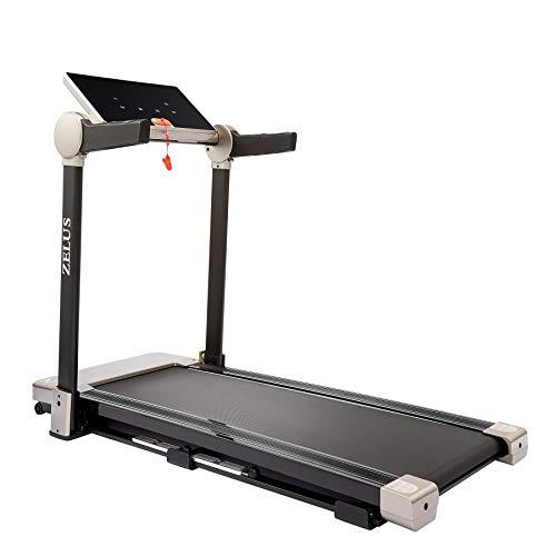 HIRAM Klappbar Laufband Elektrisches Fitnessgerät Heimtrainer bis 12 km/h Speedrunner mit APP Steuerung Display 12 Programme bis 100kg (Grau/Schwarz)