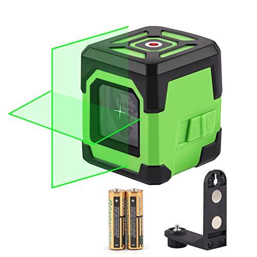 2ライン レーザー墨出し器 すみだし グリーン 緑色 レーザー タイル 斜線機能クロスライン 大矩 自動水平 高輝度 高精度 ミニ型 電源方式 充電可能 多機能取付台付属