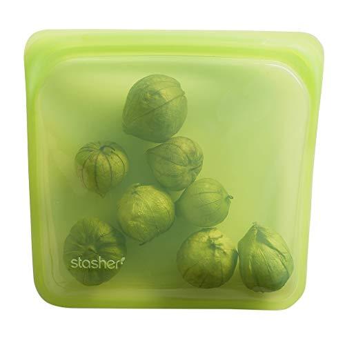 スタッシャー シリコーン バッグ ライム M サンドイッチ 洗って使える 保存 容器 レンジ オーブン 食洗器 対応 冷蔵 冷凍 stasher STM05