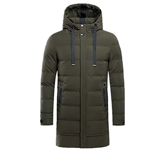 Longitud media de algodón acolchado chaqueta de los hombres engrosada con capucha de los hombres de algodón acolchado chaqueta de los hombres de algodón acolchado