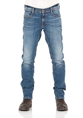MUSTANG Herren Jeans Oregon Tapered Fit Stretch Denim Hose 99{fa15ed6bda68804259f6f89c4d2269663b344c857db3a9814c789af2788bd3f3} Baumwolle Blau Grau Schwarz W30 - W40, Größe:W 33 L 36, Farbauswahl:Light Blue Denim (1009374-583)