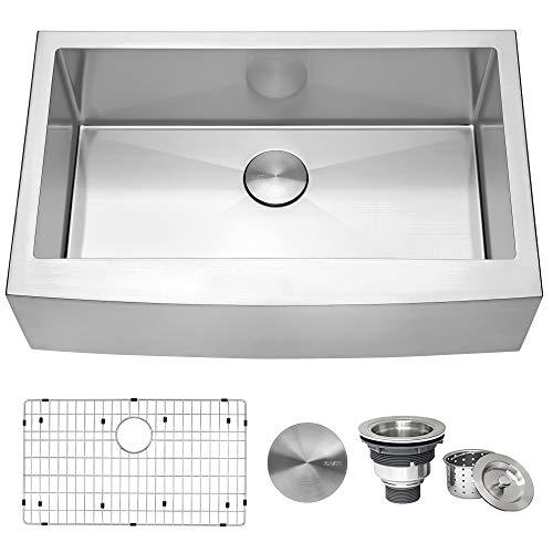 Akdy Farmhouse Apron Front Stainless Steel 33″ Kitchen Sink
