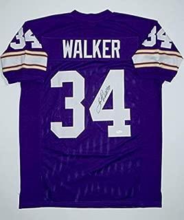Signed Herschel Walker Jersey - Purple Pro Style W Authenticated - JSA Certified - Autographed College Jerseys