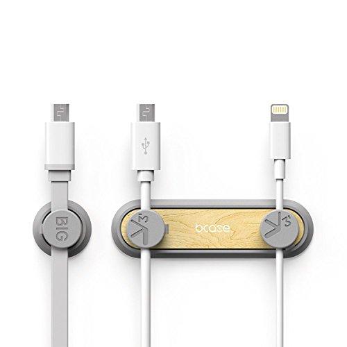 Organizador de cable, Cable Clips magnéticos, gestión de cables para escritorio, Pack 3 hebillas para cables,color amarillo