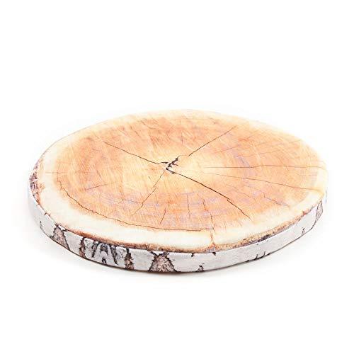 Dreamhome Stuhlkissen Matratzenkissen Bodenkissen Sitzkissen Auflage 38 Ø Früchte Holz Baum, Variante:Birke
