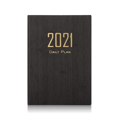 A5 Kalender 2021, iNeego Terminkalender 2021 Planer A5 Wochen- und Monatsplaner Tagebücher Organizer Notizbuch Terminkalender Tagesplaner Personal Organizer Notizbuch 200 Seiten Tagesplaner(Schwarz)