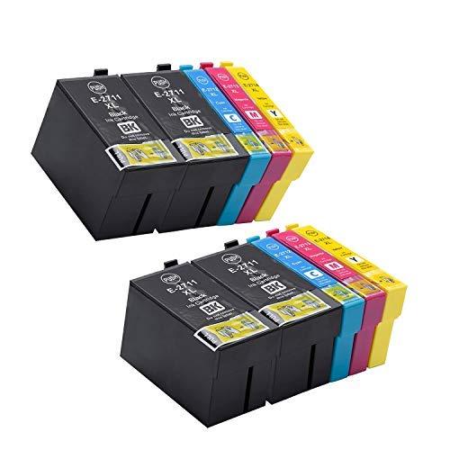 Cartuchos de tinta para Epson 27XL compatibles con WorkForceWF-7710 WF-7720 WF-7210 WF-7610 WF-3620 WF-3640 WF-7110 WF-7620 (4 negro, 2 cian, 2 magenta, 2 amarillo)