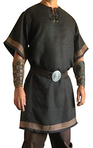 SUNLEXA Halloween Costumes Medieval Men's Renaissance Knight Viking,Celtic Tunic Long Surcoat Tabard LARP Size-4XL