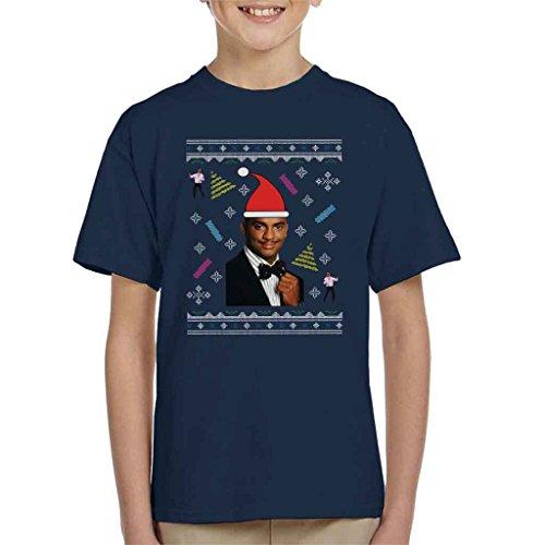 Fresh Prince of Bel Air Carlton Dance Christmas Knit Pattern Kid's T-Shirt