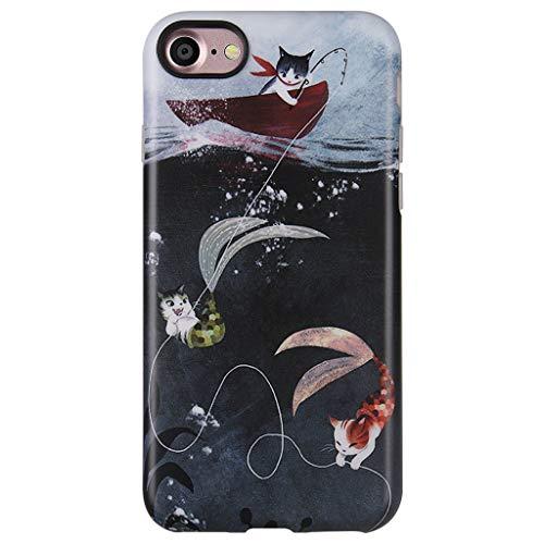 GOLINK Case for iPhone 7 Case/iPhone 8, Matte Finish Cute Series Slim-Fit Anti-Scratch Shock Proof Anti-Finger Print Flexible TPU Gel Case for iPhone 7/iPhone 8-Cats