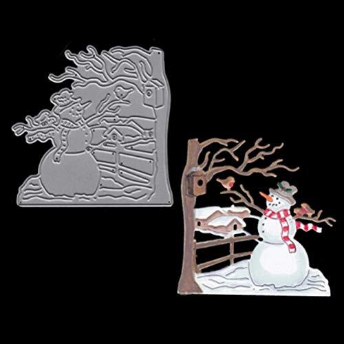 MosBug Metal Steel Leaves Cutting Dies Christmas Snowman Craft Die Cut Set for DIY Scrapbooking Album Paper Card Photo Decorative